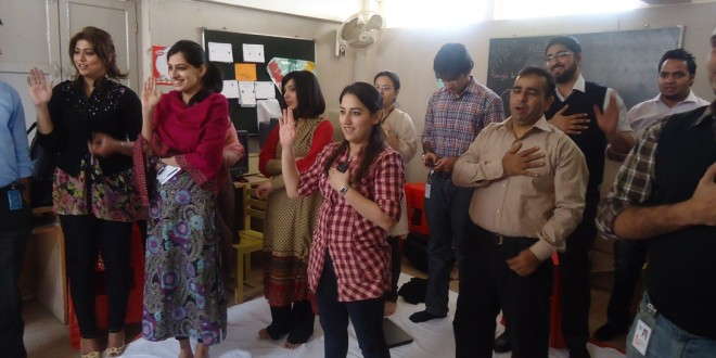 Think Big Session at ZamZama School, Karachi