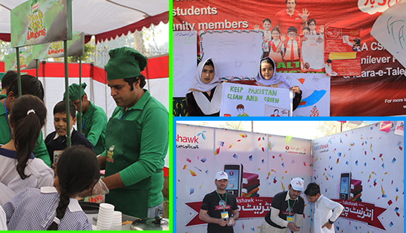 Idara-e-Taleem-o-Aagahi exhibiting CSR activities at Children Literature Festival 2012 – Peshawar